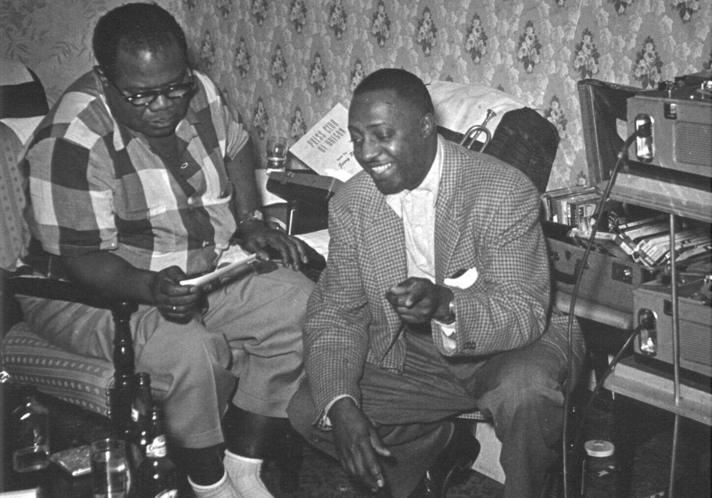 Louis Armstrong with Milt